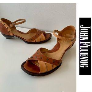 John Fluevog Sandals Leather Shoes size 7 Women's